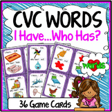CVC Words Game {Speaking & Listening I Have, Who Has Game}