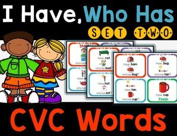 CVC Words - I Have, Who Has Set 2