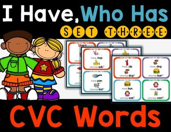 CVC Words - I Have, Who Has Set 3