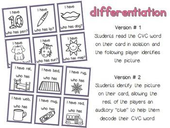 CVC Words - I have... Who has?