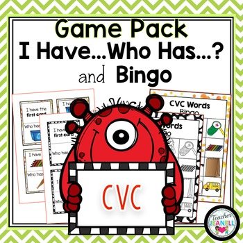 CVC I Have Who Has and Bingo Games BUNDLE