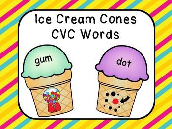 CVC Words - Ice Cream Cone Theme