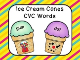 CVC Words - Ice Cream Cone Theme