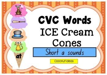 CVC Words Ice Creams- Short A Sound