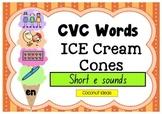CVC Words Ice Creams- Short E Sound