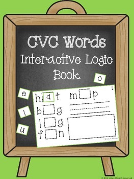 CVC Words Interactive Logic Book