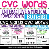 CVC Words Interactive Powerpoints & Printables {BUNDLE} Volumes 1-6