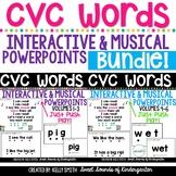 CVC Words Interactive Powerpoints & Printables {GROWING BUNDLE}