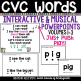 CVC Words Interactive Powerpoints & Printables Volumes 1-3 {Reading Powerpoints}