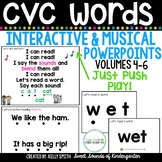 CVC Words Interactive Powerpoints & Printables Volumes 4-6 {Reading Powerpoints}