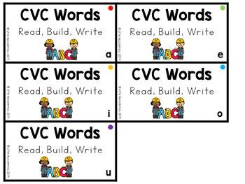 CVC Words Kindergarten - CVC Words Flash Cards