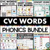 CVC Words Worksheets, Games, and Activities Bundle KINDERGARTE