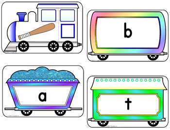 CVC Word Center Trains Literacy Preschool Kindergarten SPED ECE