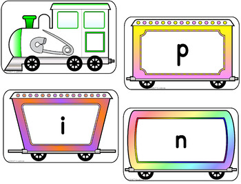 CVC Word Centers Activities Trains Literacy Spelling Reading Train Centers