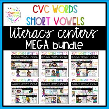 Short Vowels Literacy Center Games Mega Bundle
