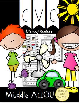 CVC Words / Literacy Centers / Practice