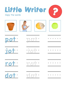 CVC Words - Little Writer (Read it, Write it, Trace it Worksheets & Games)
