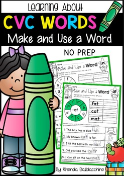 CVC Words ~ Make and Use a Word