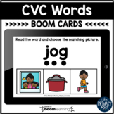 CVC Words Match Boom Cards™   Distance Learning