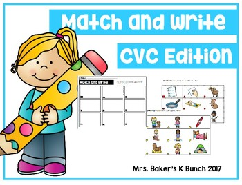 CVC Words ~ Match & Write Card Packet Set 1