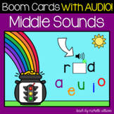 CVC Words | Medial Sounds | Boom Cards™️ WITH AUDIO