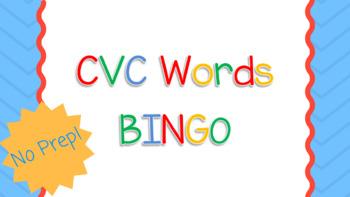 CVC Words / Middle Vowel Sound BINGO Game & Flashcards