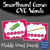 CVC Words: Short Vowel Sounds Game (Smartboard/Promethean Board)
