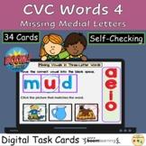 CVC Words Missing Vowels Sounds Picture Match Letters Phon