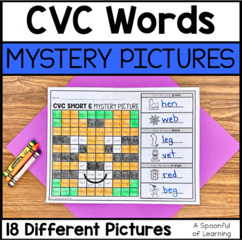 CVC Words Mystery Pictures