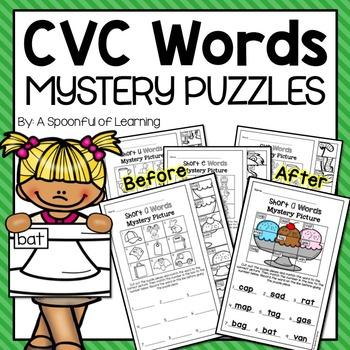 CVC Words Mystery Puzzles