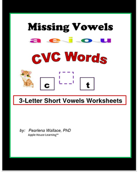 Kindergarten Word Families - Missing Vowels (Foundational Skills)