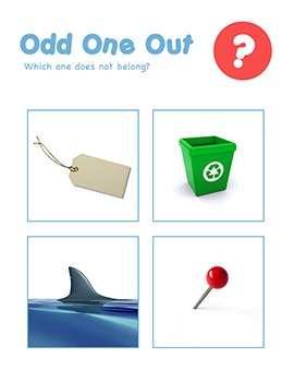CVC Words - Odd One Out Worksheets & Games