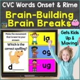 CVC Words Onset & Rime with Brain Breaks, Movement Google