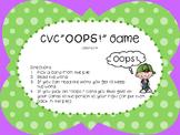 """CVC Words """"Oops!"""""""