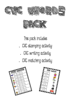 CVC Words Pack