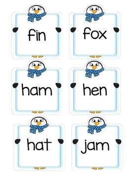 CVC Words - Penguin Match