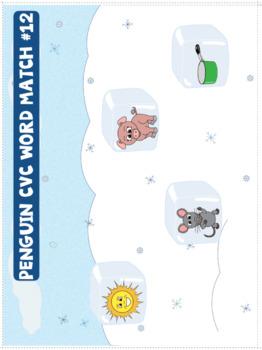 CVC Words - Penguin Themed File Folder Activities