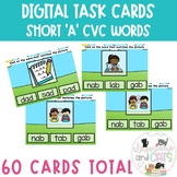 Phonics Short 'A' Task Cards Distance Learning | Boom Cards™