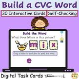 CVC Words Phonics Word Work BOOM Cards™ Digital Task Cards