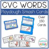 CVC Words Playdough Smash Cards