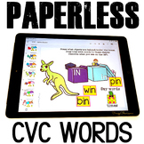 Google Classroom™ Activities Reading CVC words (boxes)