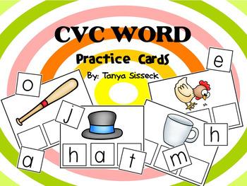 CVC Words Practice Cards