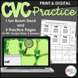 CVC Words Practice: Digital and Print (Boom, Seesaw, Google)