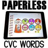 Google Classroom Activities Paperless Morning Work CVC Activities Kindergarten