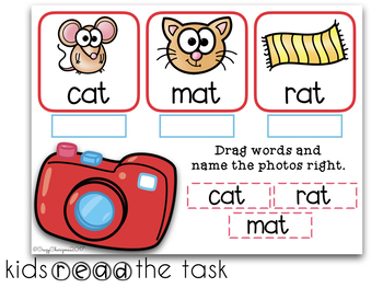 Google Classroom™ Activities Reading CVC words (photos)