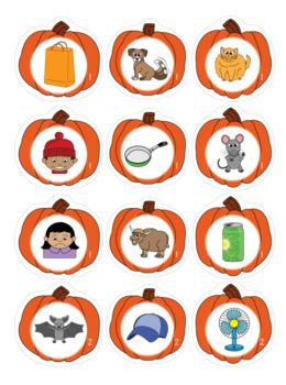 CVC Words - Pumpkin Themed File Folder Activities