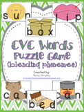 CVC Words Puzzle Game (blending phonemes)