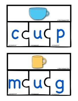 CVC Words Puzzles