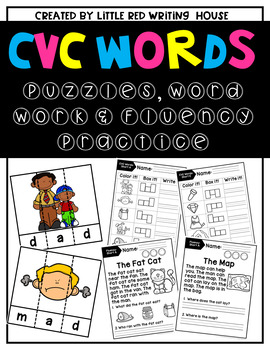 CVC Words {Puzzles, Word Work & Fluency}