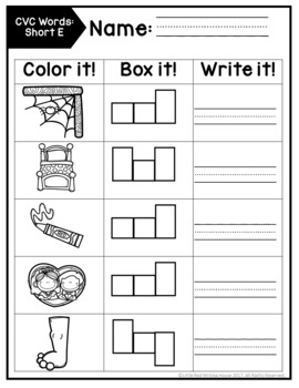 CVC Words {Puzzles, Word Work & Fluency}